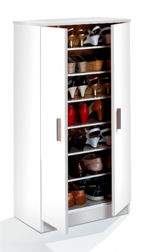 Zuldy White Shoe Cupboard - 2462